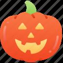 fruit, halloween, happy, jack-o'-lantern, pumpkin, smile icon