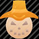 farm, hay, halloween, evil, scarecrow