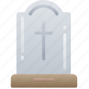 dead, evil, gravestone, halloween, skelenton icon