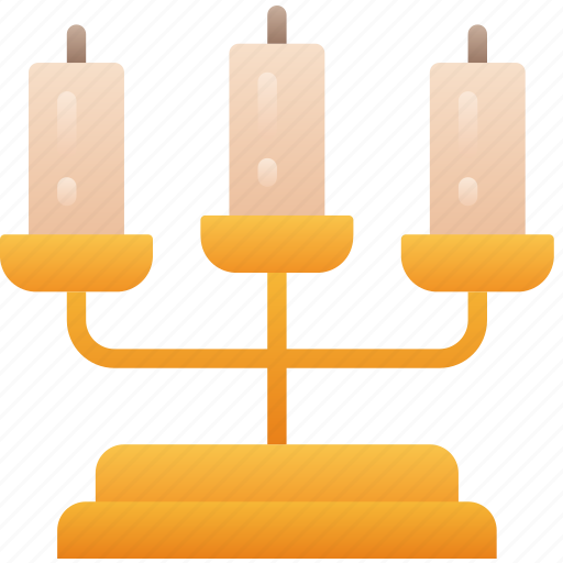 Candelabra, candle, evil, flame, halloween icon - Download on Iconfinder