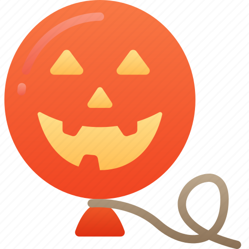 Balloon, evil, floating, halloween, smile icon - Download on Iconfinder