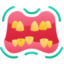 dead, evil, halloween, mouth, teeth, zombie icon