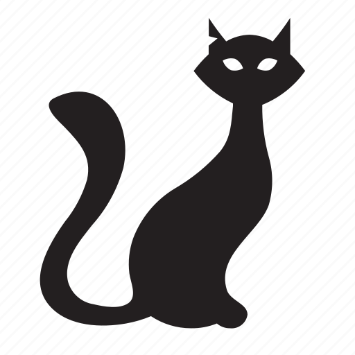 animal, black cat, cat, halloween, horror, pet, scary icon
