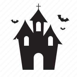 bat, halloween, horror, house, scary icon