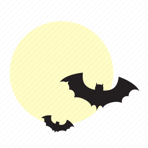 Moon, bat, halloween, horror, night, scary, spooky icon - Download on Iconfinder