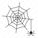 halloween, horror, scary, spider, web icon icon