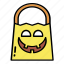 bag, candy, halloween, sweet, track, trick icon