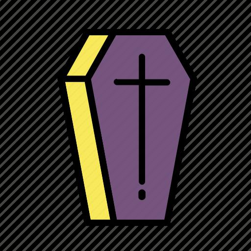 coffin, death, fear, halloween, horror icon