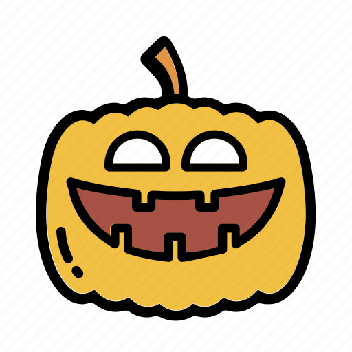 decoration, halloween, horror, pumpkin, smile icon