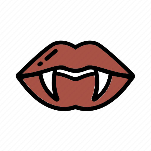 blood, halloween, lips, tooth, vampire icon
