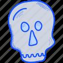 bone, halloween, holiday, skull icon
