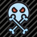 halloween, horror, scary, skulls, spooky icon