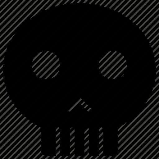 bones, dead, death, halloween, skeleton, skull, trick or treat icon