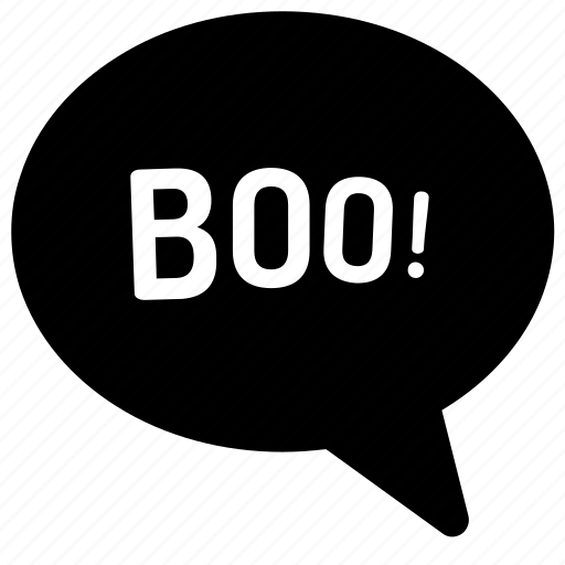 boo, communication, halloween, speaking, speech bubble, text bubble, text message icon
