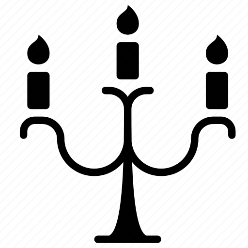 candelabra, candle, candle holder, halloween, illumination, light, trick or treat icon