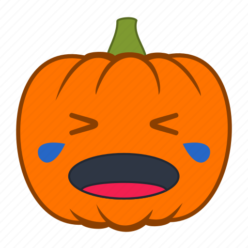 cry, crying, emoji, emotion, halloween, holiday, pumpkin icon