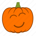 emoji, halloween, happy, holiday, joy, love, pumpkin icon