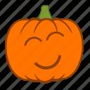 emoji, halloween, happy, holiday, joy, love, pumpkin icon