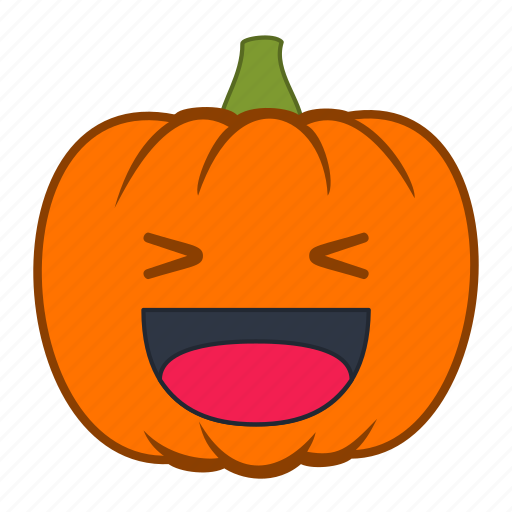 emoji, emotion, halloween, happy, holiday, pumpkin, reaction icon