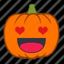 emotion, heart, love, halloween, emoji, holiday, pumpkin
