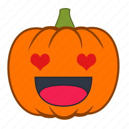 emoji, emotion, halloween, heart, holiday, love, pumpkin icon