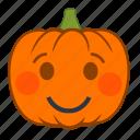 emotion, pumpkin, shy, halloween, smile, holiday, emoji
