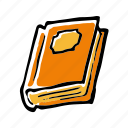 book, halloween, horror, learning, scary, school, study icon
