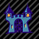 scary, castle, king, kingdom, magic, horror, halloween