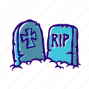tombstone, zombies, grave, scary, spooky, cemetery, dead