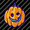 jack o lantern, pumpkin, head, monster, holiday0a, halloween, face