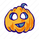 jack o lantern, pumpkin, scary, head, horror, halloween, face