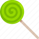 candy, green, halloween, lollipop, sweet, trick or treat icon