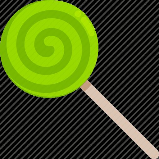 candy, green, halloween, lollipop, sweet, trick or treat icon