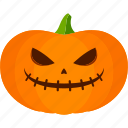 carved, evil, halloween, jack o lantern, pumpkin icon