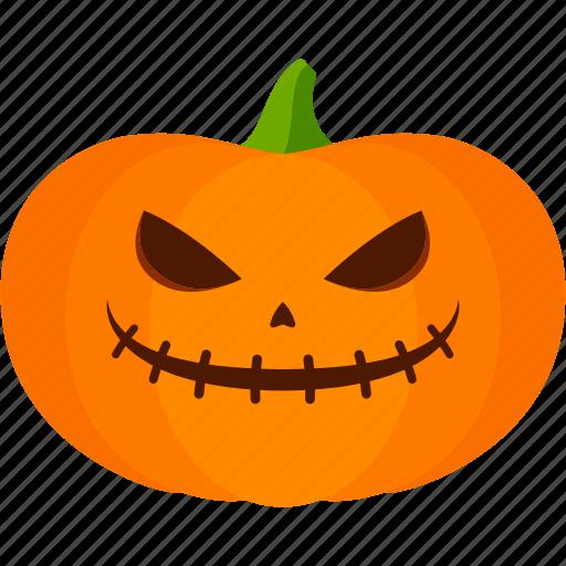 carved, evil, halloween, jack o lantern, pumpkin icon
