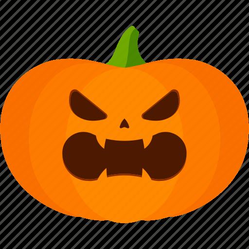 angry, carved, halloween, jack o lantern, pumpkin icon
