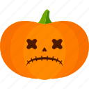 carved, dead, halloween, jack o lantern, pumpkin icon