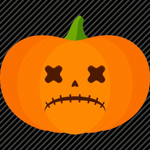 carved, dead, halloween, jack o lantern, pumpkin icon