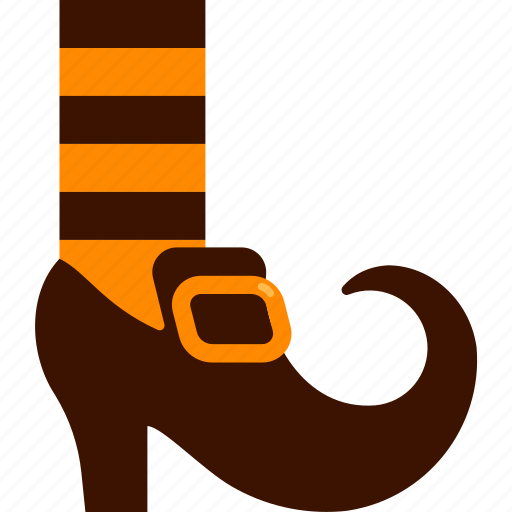 costume, foot, halloween, shoes, witch icon