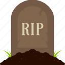 grave, graveyard, halloween, rip, tomb, tombstone icon