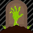 arm, grave, halloween, hand, tombstone, undead, zombie icon