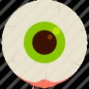 brown, eye, green, halloween, undead, zombie icon