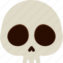beige, dead, halloween, scary, skull icon