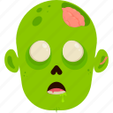 character, costume, halloween, undead, zombie icon