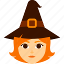 character, costume, girl, halloween, kid, witch icon