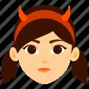 character, costume, devil, girl, halloween
