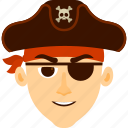 boy, character, costume, halloween, pirate