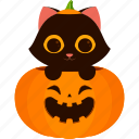 animal, carved, cat, character, halloween, pumpkin icon
