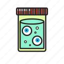 eye, halloween, jar, zombie icon
