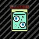 eye, halloween, jar, zombie icon